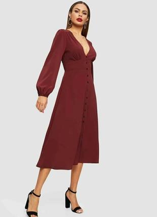 Натуральное платье  на пуговицах миди от primark