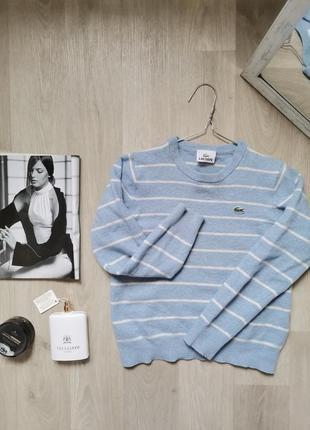 Стильный джемпер, свитер 100% шерсть, от lacoste