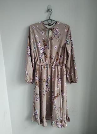 Модное стильное платье миди