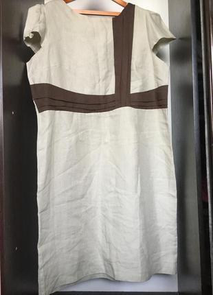 Платье лен льняное натуральное миди сарафан большого размера