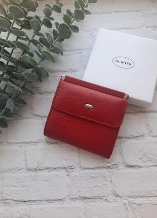 Женский кожаный кошелек красный жіночий шкіряний гаманець