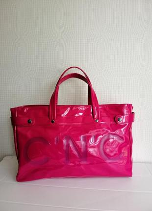 Лакированая сумка cnc costume national, италия, голограмма