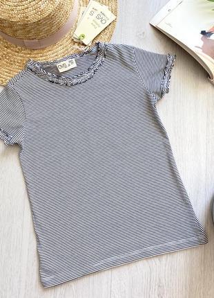 Стильная летняя подростковая футболка в полоску для девочки ovs kids италия