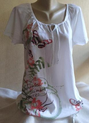 Блуза, тоненькая, 100%хлопок