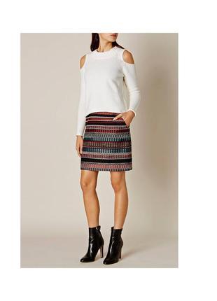 Karen millen твидовая мини юбка р.м