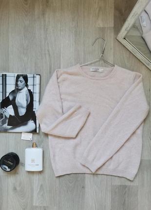 Стильный нюдовый кашемировый  джемпер, свитер от lochmere