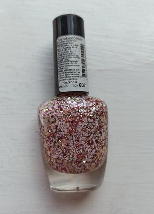 Лак для ногтей с блёстками цветной фирмы nogotok