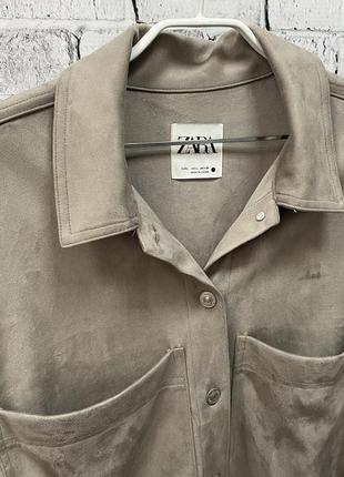 Замшевая рубашка zara2 фото