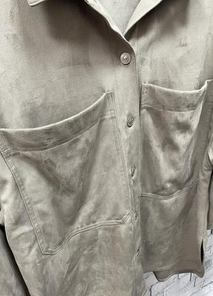 Замшевая рубашка zara4 фото