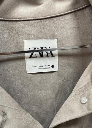 Замшевая рубашка zara3 фото