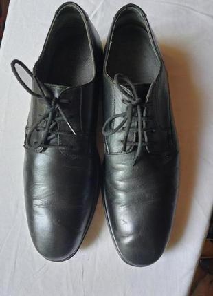 Zeus стильные полностью кожаные туфли 43 р.