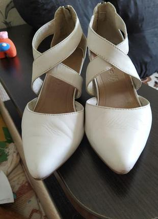 Туфли лодочки кожаные