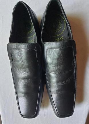 Мужские туфли от бренда next, р. 42 натуральная кожа