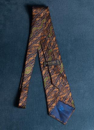 Галстук lanvin франция шелковый краватка шовк