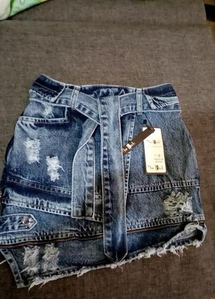 Юбка джинсовая подростковая
