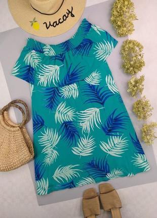 Платье натуральное тропическое на плечи 16р.