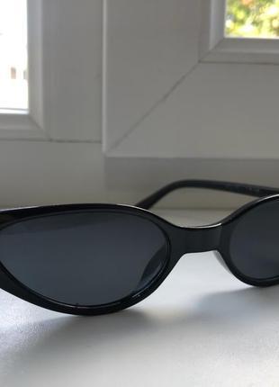 Сонцезахисні вузенькі окуляри-лисички