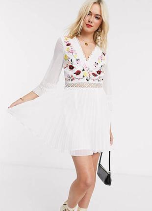 Роскошное платье с вышивкой и кружевом от asos, вышиванка, вышитое в цветы!