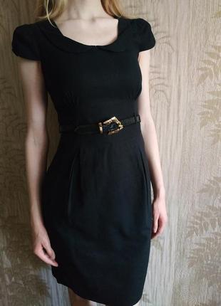 Льняное платье, базовое платье, чёрное платье, платье из натурального льна, платье миди