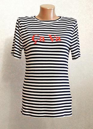 Коллекционная футболка marks & spencer с надписью на груди 100% вискоза
