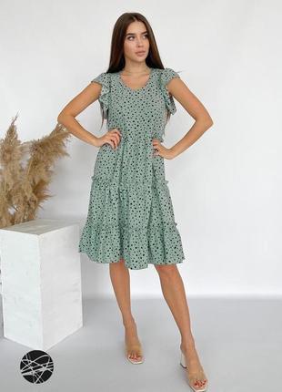 Ярусное платье с принтом
