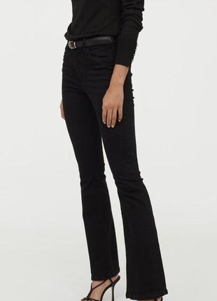 Джинсы клёш, джинсы с высокой посадкой h&m