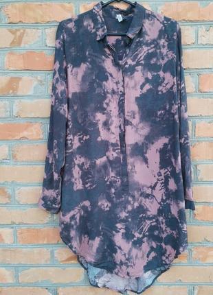 Платье - рубашка в абстрактный принт