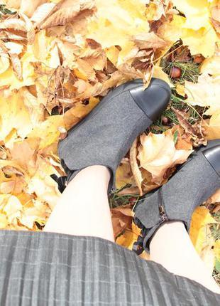Тепленькие полуботинки из дублированной шерсти ботинки зимние на меху smart р.36-40