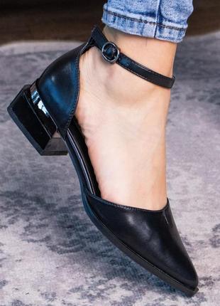 Женские туфли черные knave