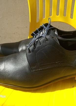 Стильные кожаные туфли премиум класса lloyd редкий размер 48 стелька 33,5 см