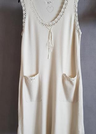 Нежное красивое платье дорогой бренд by ti mo, цвет айвори