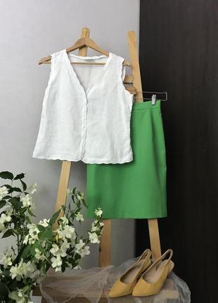 Білосніжна натуральна блуза