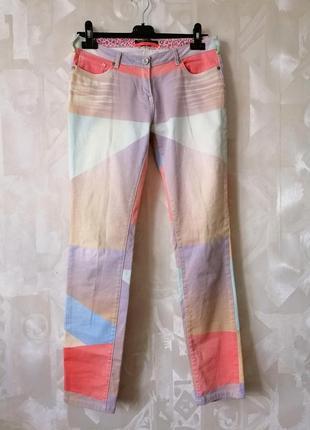 Женские джинсы, джинсы колор блок,джинсы с принтом.