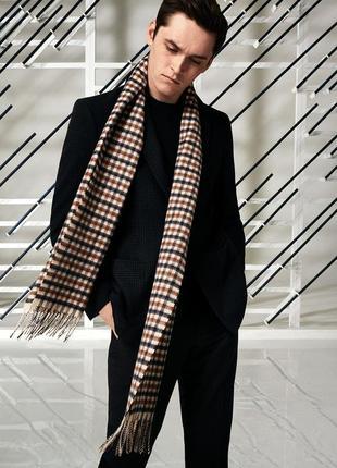 Шерстяной стильный мужской шарф aquascutum оf london англия /3418/