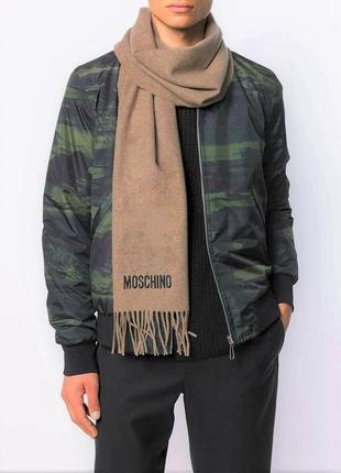 Винтажный мужской шерстяной мериносовый шарф moschino /3624/