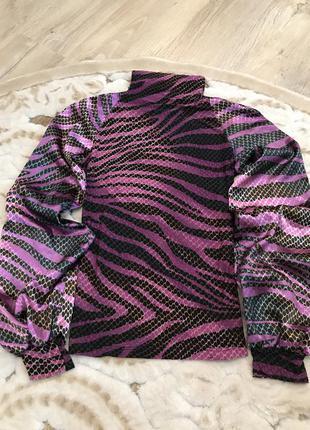 Очень красивая фиолетово-черная блузка