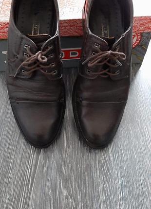 🛍шкіряні коричневі туфлі