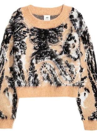 Мохеровый свитер h&m studio