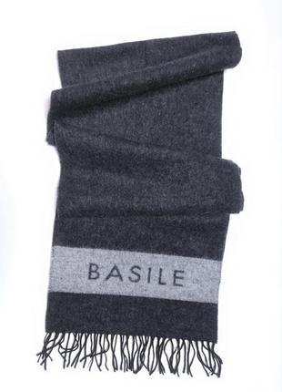 Шерстяной  кашемировый шарф  премиального бренда basile /3973/