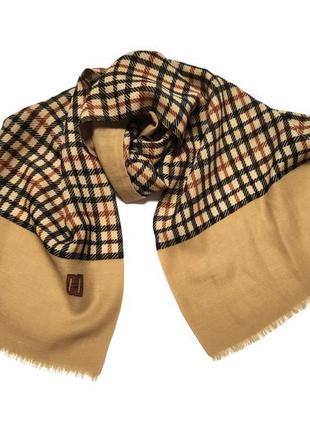 Люксовый шерстяной шарф daks burberry london swiss made /4706/