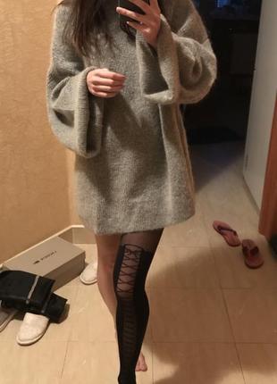 Удлиненный свитер оверсайз
