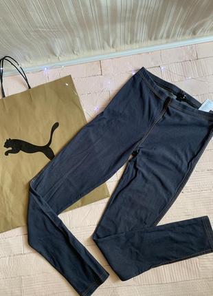 Лосины лосини джинсы джинси h&m  леггинсы хлопковые синие базовые лосики