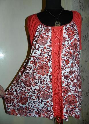 Очаровательная,натуральная блузка,бохо,большого размера,сост.новой,c&a