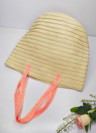 Плетёная летняя вместительная сумочка