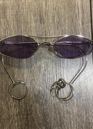 Сиреневые очки