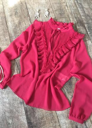 Шикарная блузка блуза с рюшами see by chloe