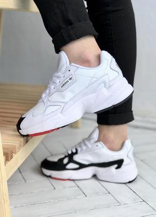 Adidas falcon женские кроссовки адидас фалкон белые