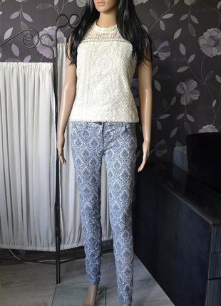 Текстурні джинси в красивий орнамент next 1+1 = 3