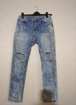 Джинсы рванки унисекс  fashion jeans , xl, наш 46/48