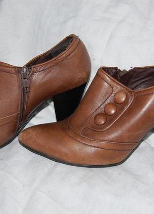 Ботильены , туфли кожаные 5th avenue